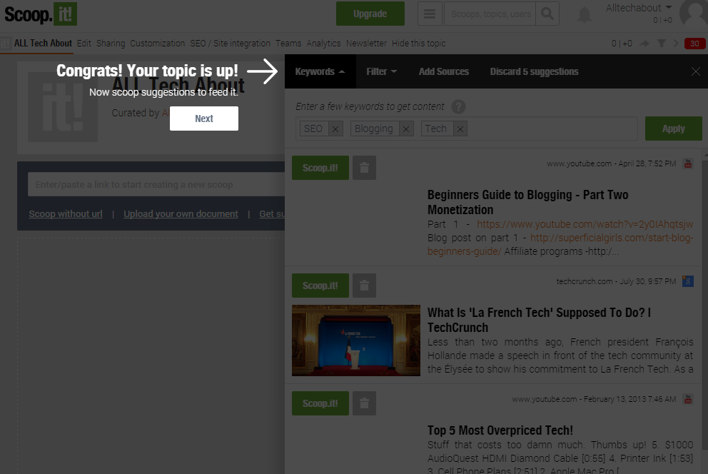 How To Create A Scoop.it Account Free