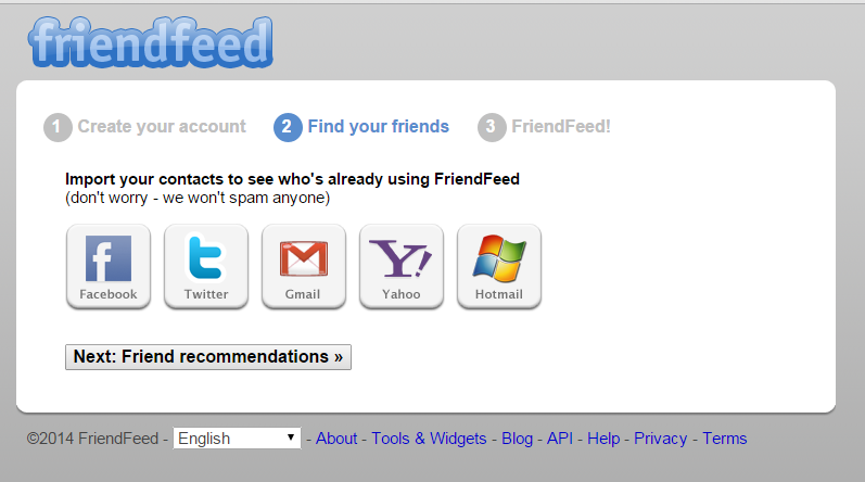 How To Create FriendFeed Account Step by Step