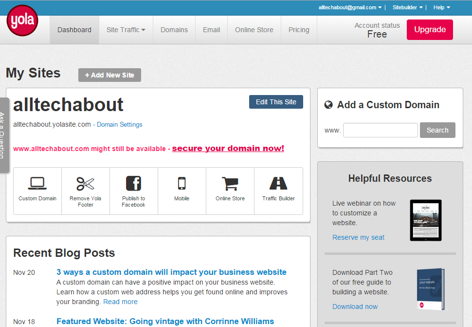 How to Make a Website on Yola.com