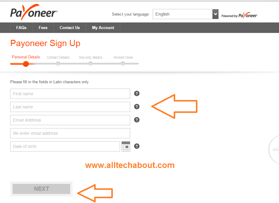 Step by Step Guide to Create Payoneer