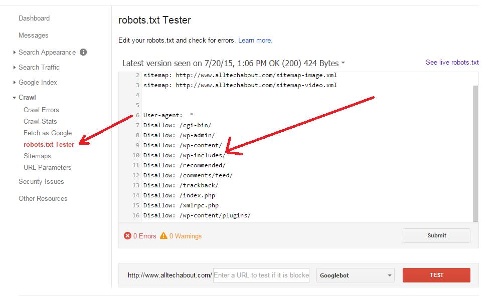 googlebot cannot access your javascript and css files
