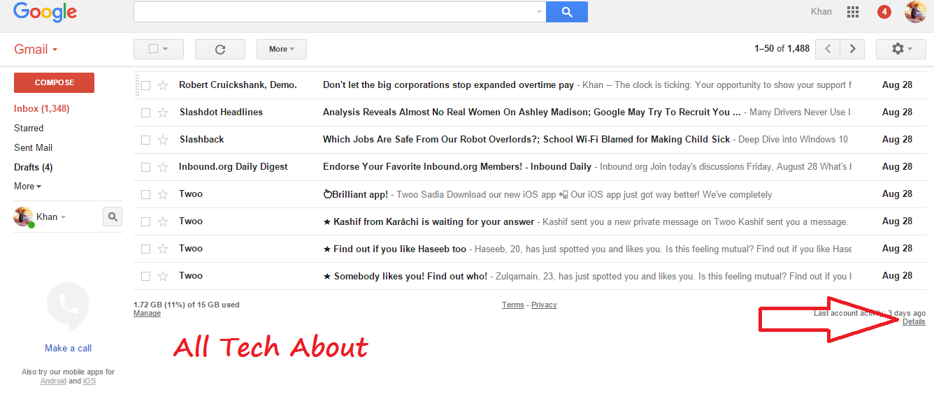 How to sign out of Gmail and all Google accounts with one click