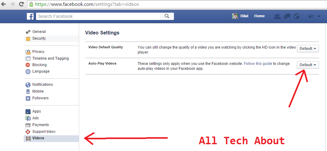 Stop videos Playing automatically on Facebook