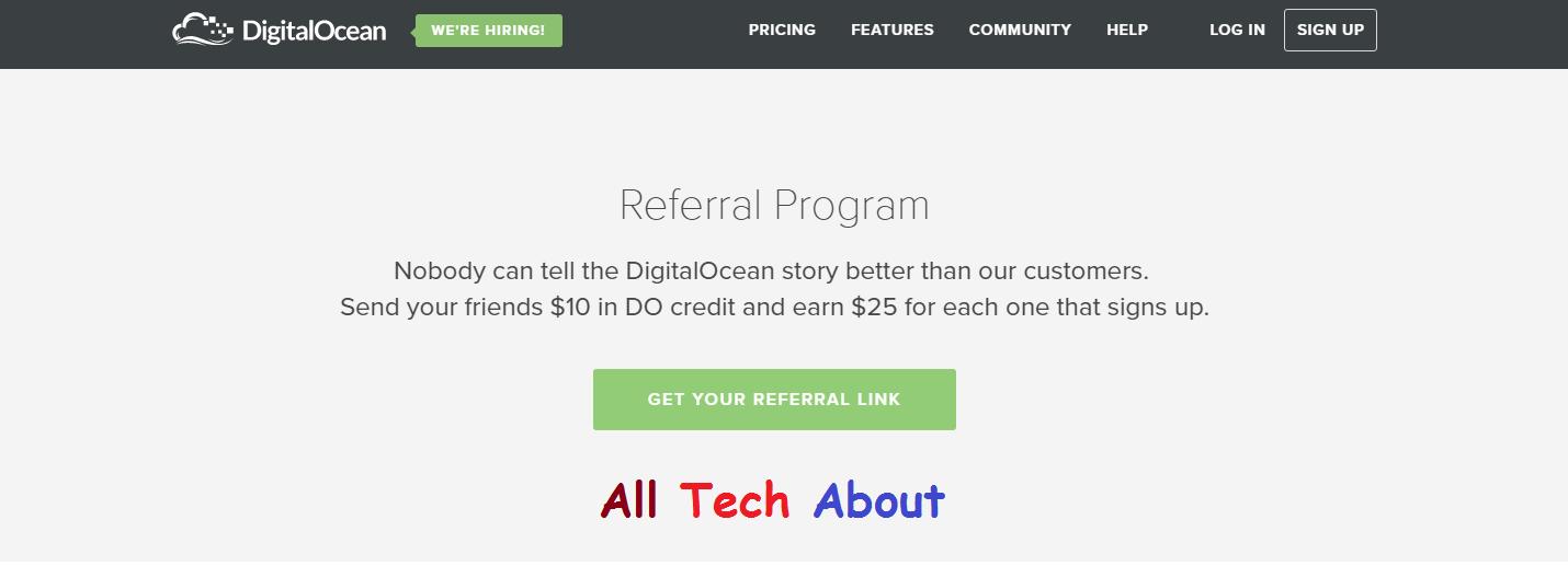 How To Signup For Digitalocean Web Hosting Referral Program