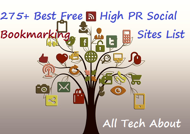 275+ Best Free High Page Rank Social Bookmarking Sites List