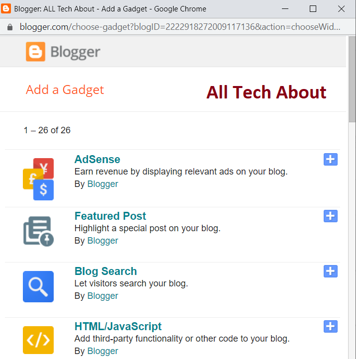 How To Add a Gadget (Widgets) in Your Blog